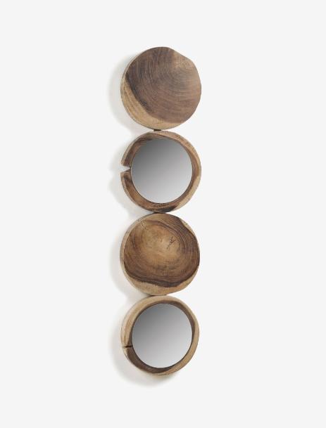 Espejo Teona de madera maciza de campano 34 x 134 cm