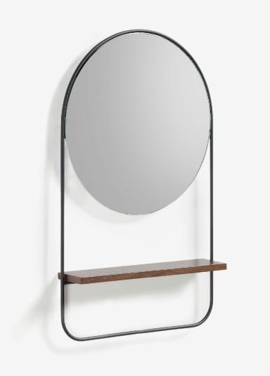 Espejo Margo acero negro mate 37x58 cm