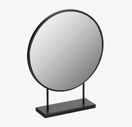Espejo Libra de metal negro mate 36x45 cm