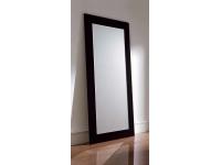Espejo vestidor negro brillo 90x200 E-77