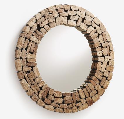 Espejo Victoria madera maciza de teca 80 cm