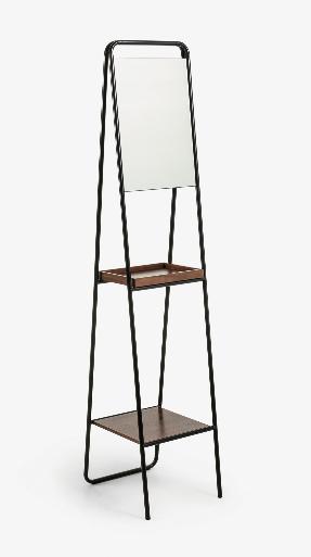 Espejo Katrin acero negro 35x164 cm