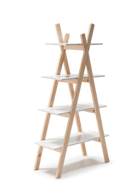 Estanteria Elisa-3 madera de pino blanco