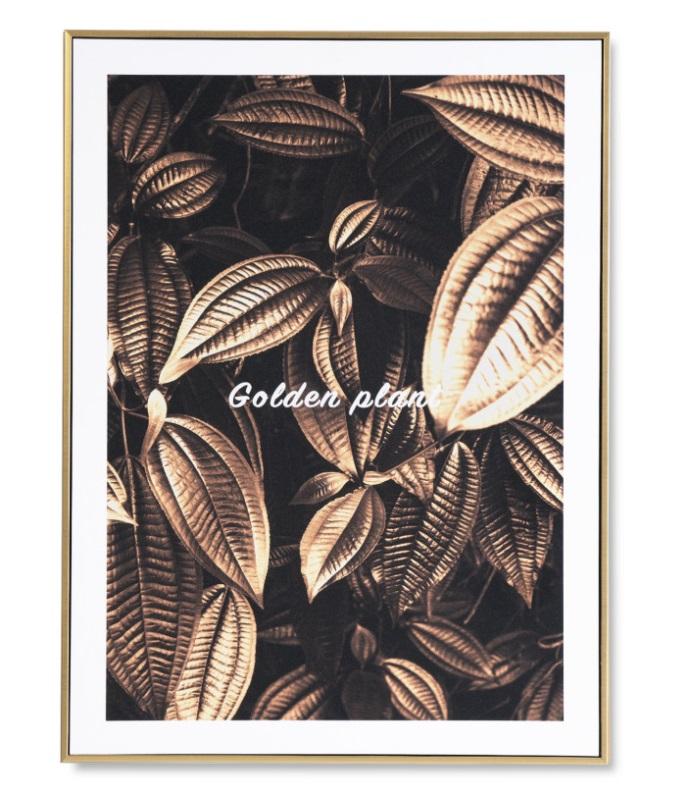 Cuadro Grain dorado 60x80 cm