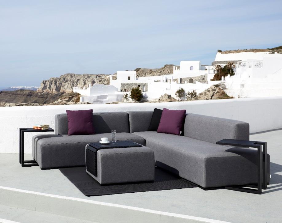 Lounge IOS sofa terraza tapizado gris