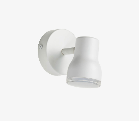 Lampara aplique giratoria de acero color blanco