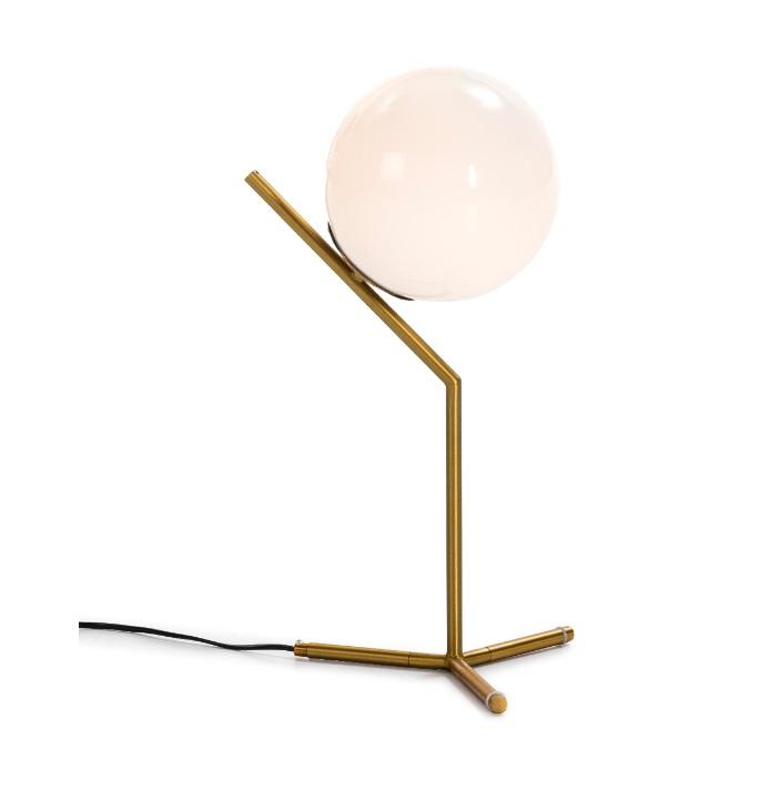 Lampara de mesa metal dorada globo vintage TL-111