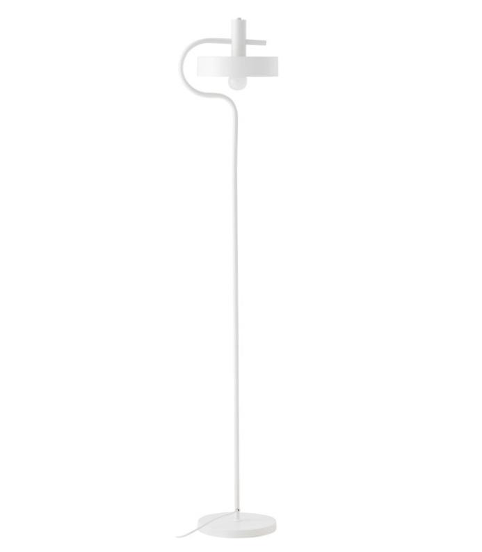 Lámpara de pie Acebo metal blanco mate