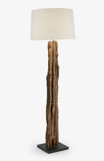 Lampara de pie Caucho de madera reciclada