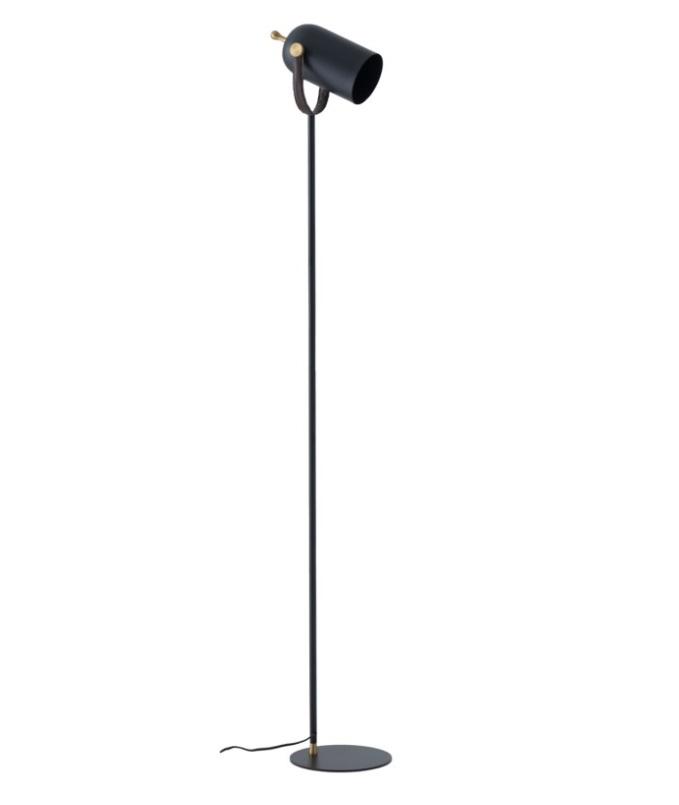 Lámpara de pie Nacia metal negro