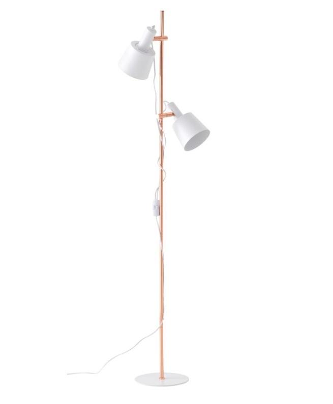 Lámpara de pie Pasula metal blanco