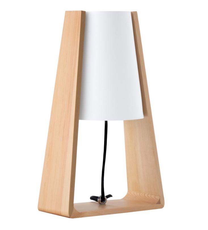 Lámpara de sobremesa Zular de madera