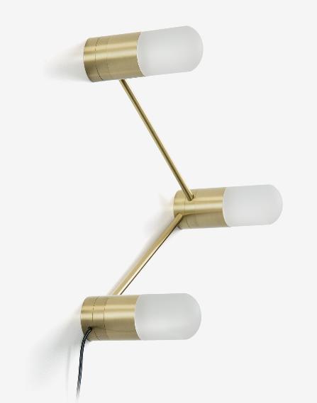 Lámpara de sobremesa o aplique Tres cristales