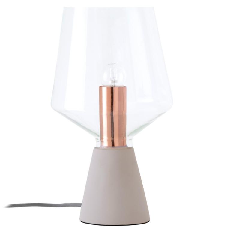 Lámpara Aina base de cemento y pantalla de vidrio