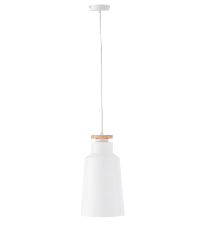 Lámpara Alcora en aluminio color blanco