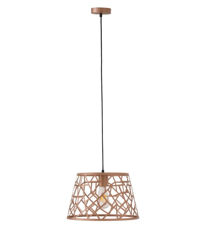 Lámpara Bellus metal color rosa gold