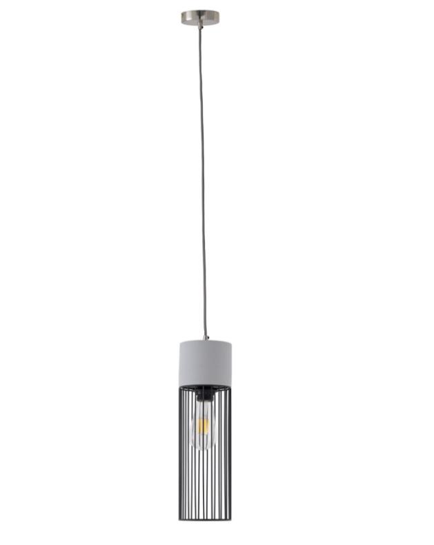 Lámpara Birila de cemento y metal