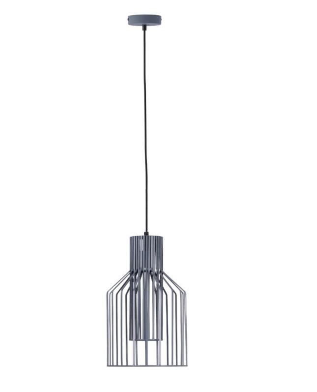 Lámpara Costur metal gris mate con doble cuerpo
