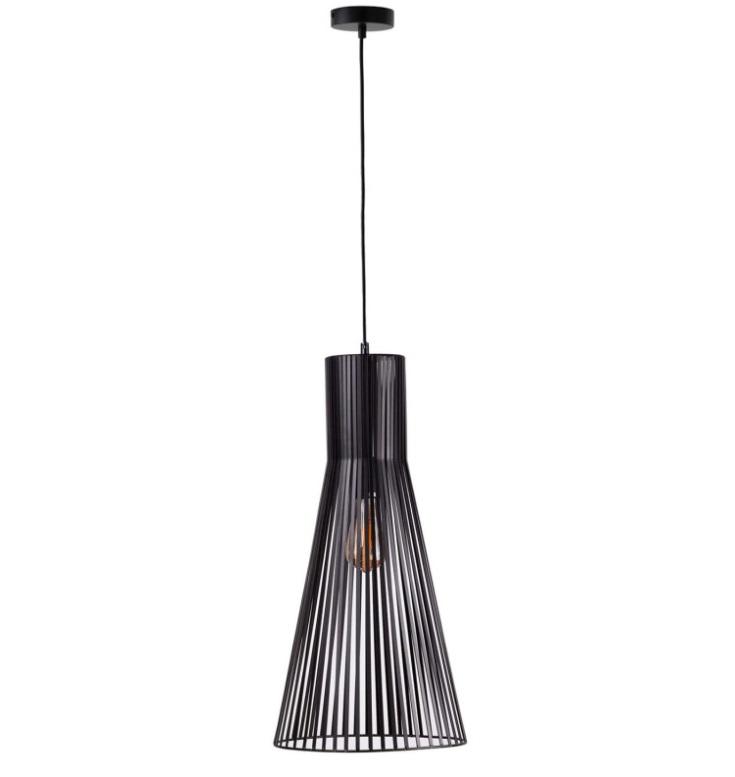 Lámpara Daya fabricada en varilla plana de color negro