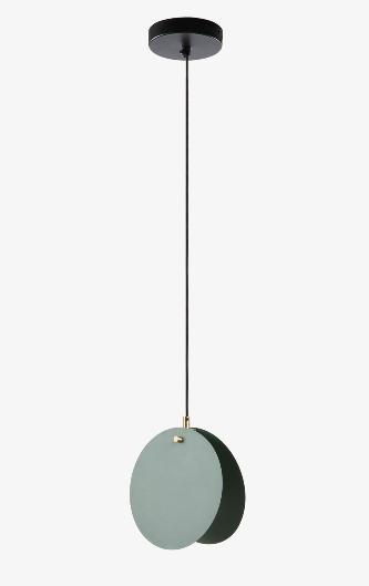 Lampara Globo de acero con acabado verde