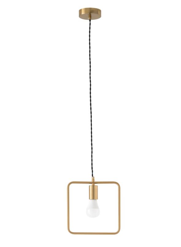 Lámpara Hedra de latón de forma cuadrada