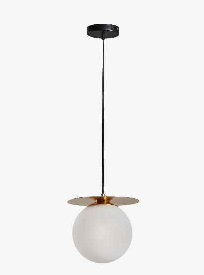 Lámpara de techo Jasmine de latón y cristal