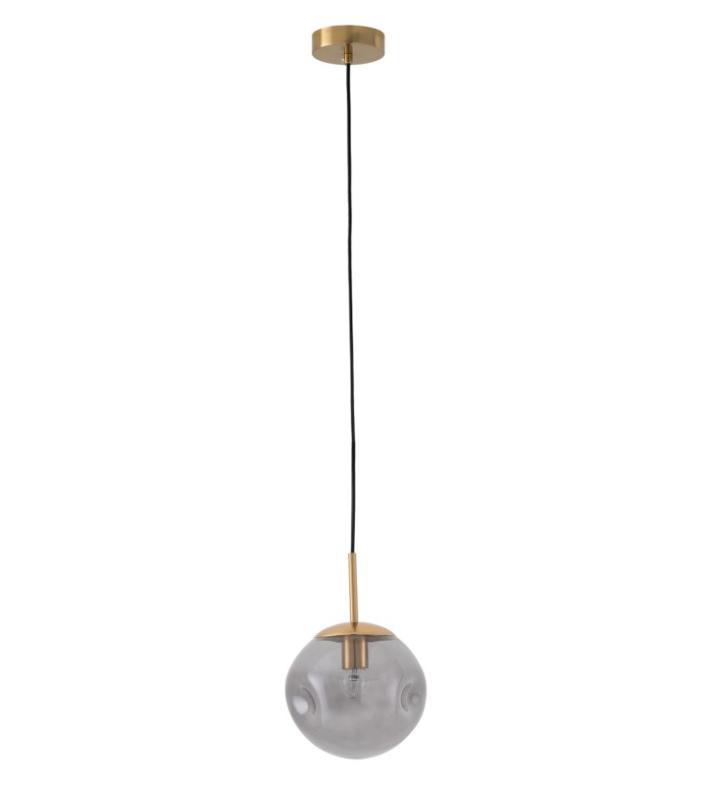 Lámpara Laurin de vidrio y latón
