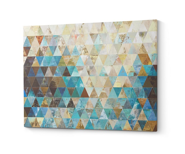 Lienzo impreso triangles 100x80