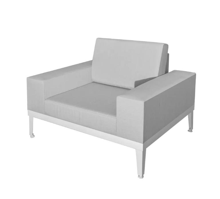Sofa 1 plaza Luana aluminio 110x90x67 cm