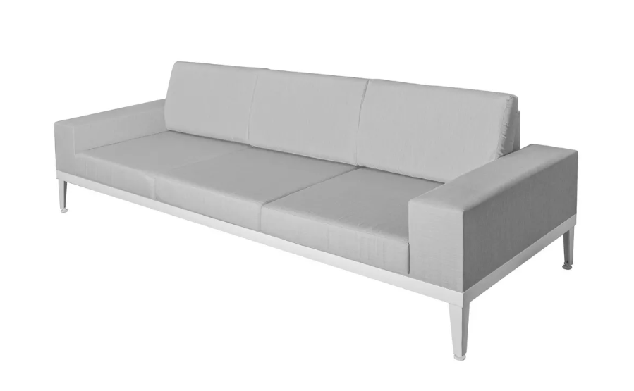 Sofa Luana 3 plazas aluminio 250x90x67 cm