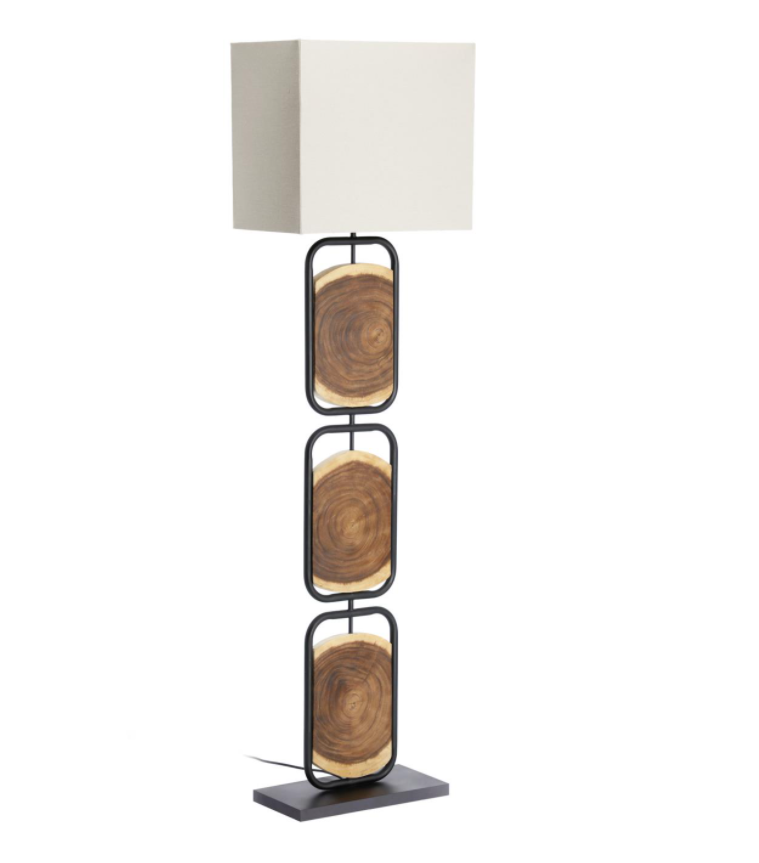 Lámpara de pie Tres piezas madera maciza