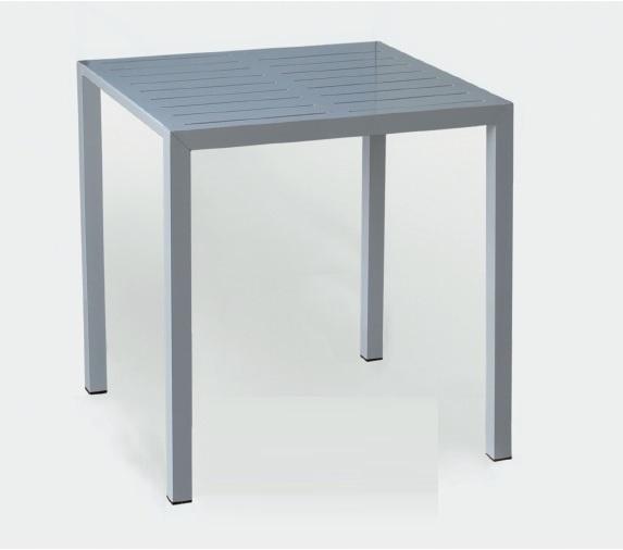 Mesa de aluminio tablero de lamas Vinta AL 70x70