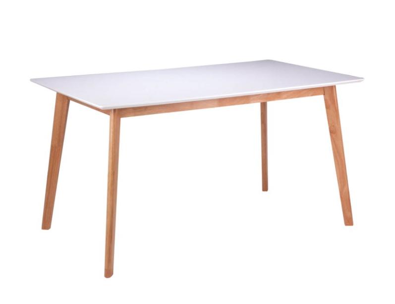 Mesa Alice madera blanco roble 120 cm