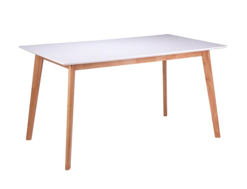Mesa Marie madera blanco roble 140 cm