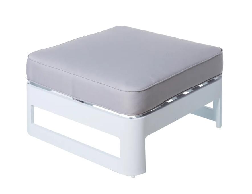 Mesa con cojin Aisha aluminio blanco