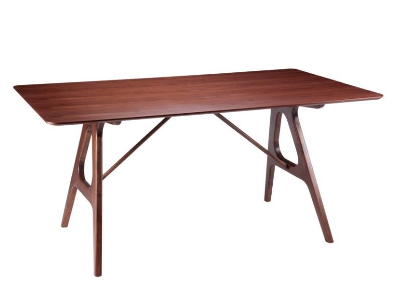 Mesa de comedor Amara madera de nogal 160x95 cm