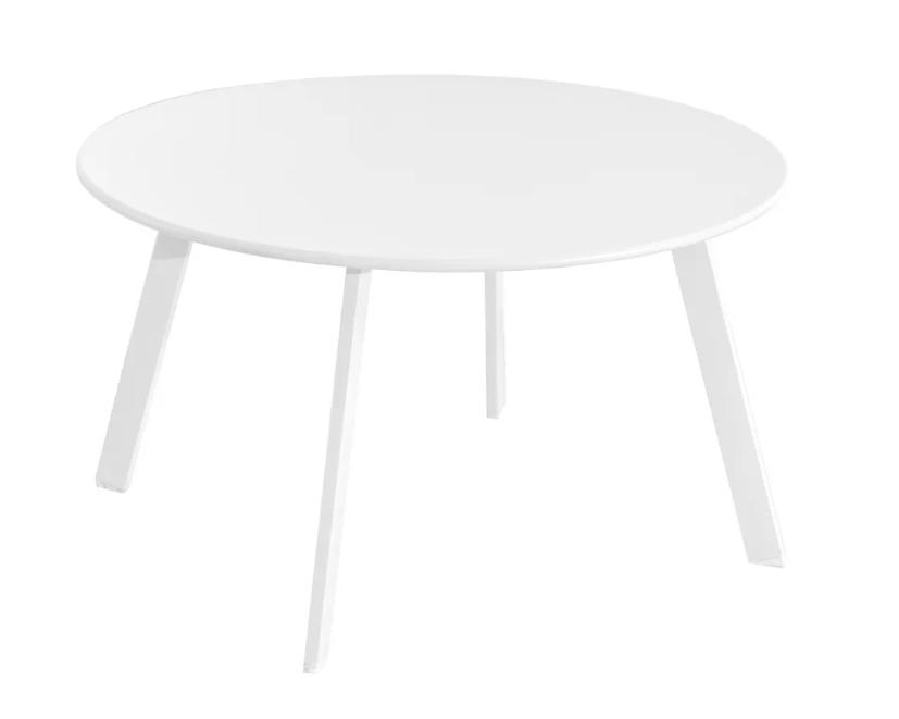 Mesa auxiliar anidable Marzia de acero color blanco 70x40 cm