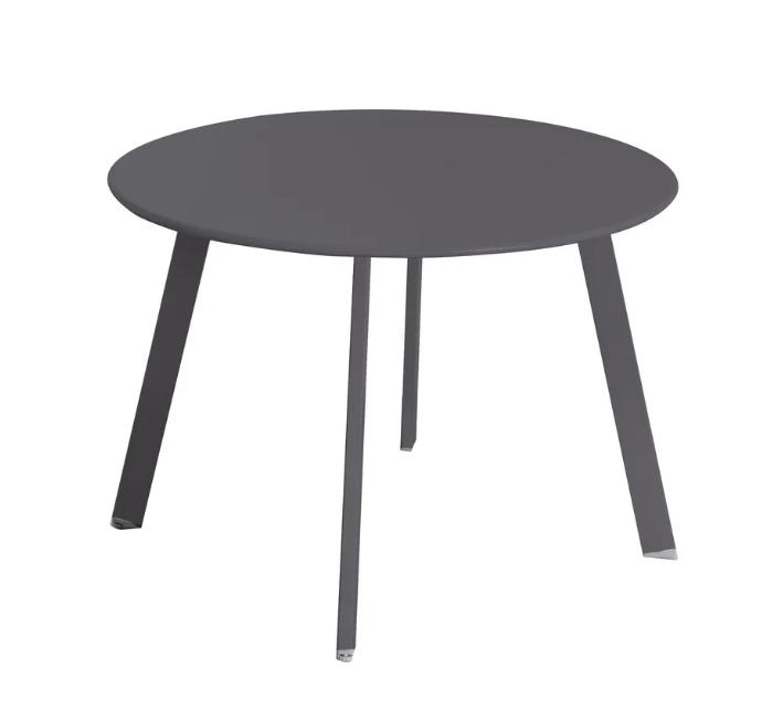Mesa auxiliar anidable Marzia de acero color grafito 60x42 cm
