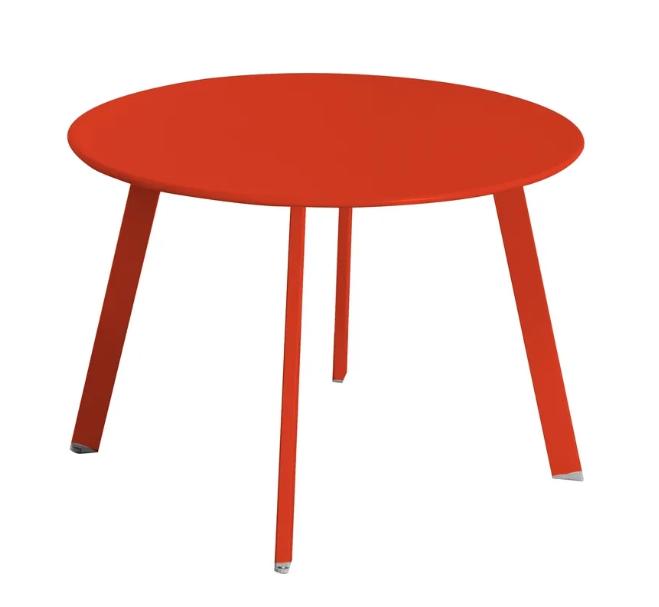 Mesa auxiliar anidable Marzia de acero color paprika 60x42 cm