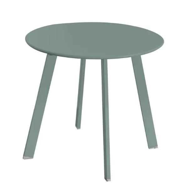 Mesa auxiliar anidable Marzia de acero color salvia 50x44 cm