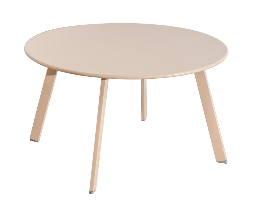 Mesa auxiliar anidable Marzia de acero color tapioca 70x40 cm