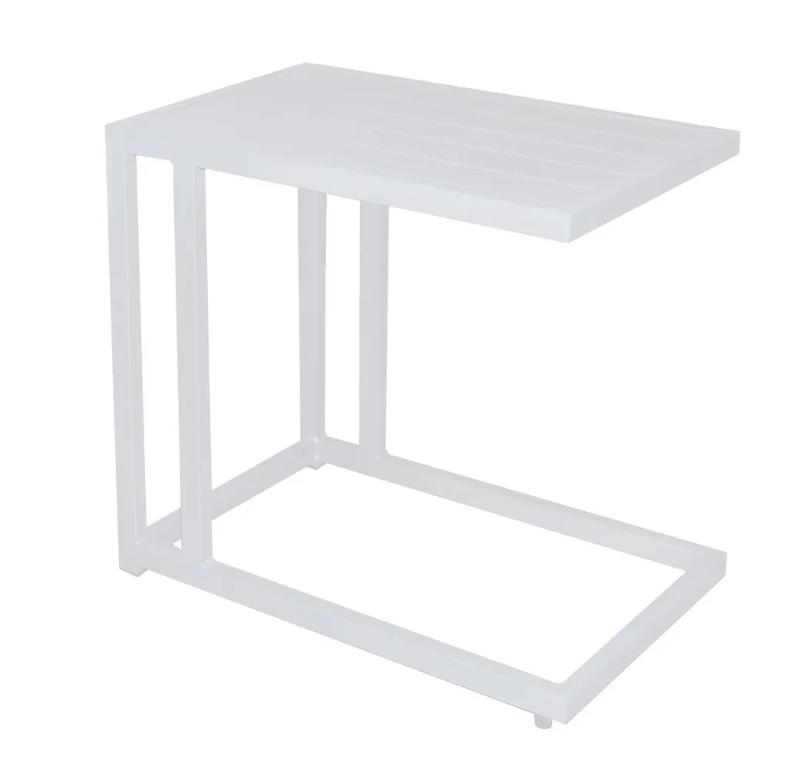 Mesa auxiliar para tumbona Agnes aluminio blanco