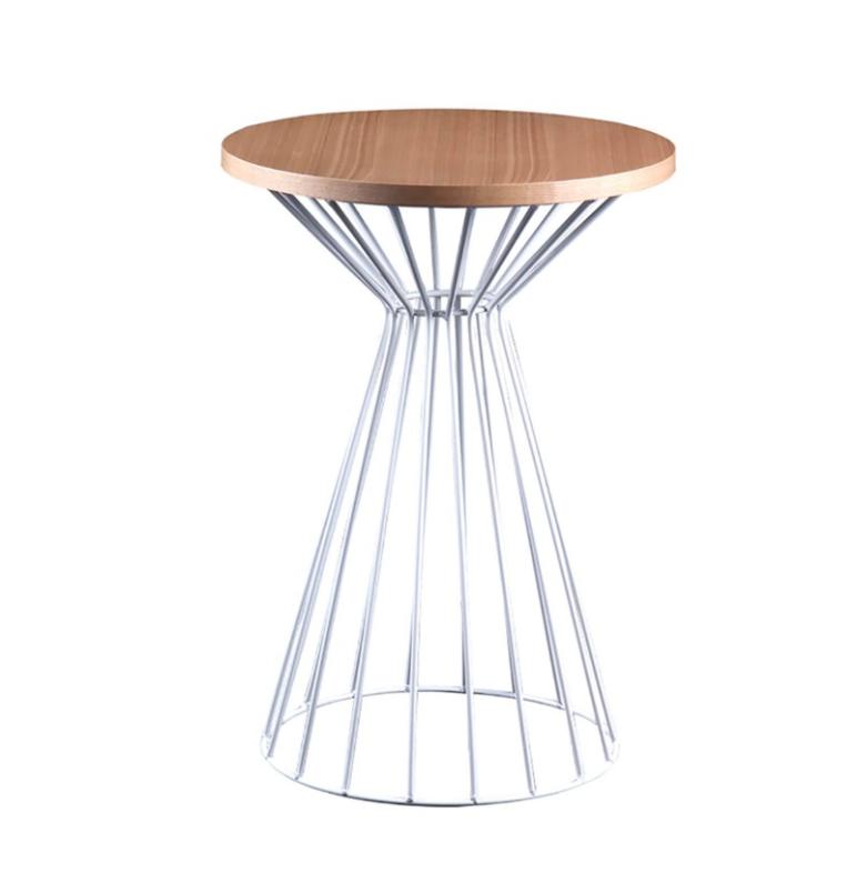 Mesa auxiliar Nico madera roble blanco 40 cm