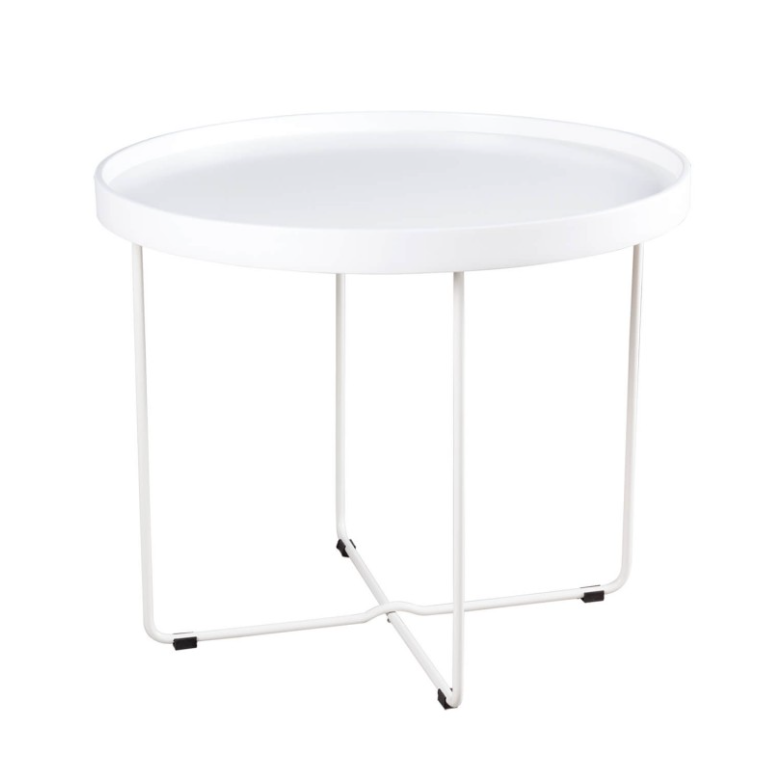Mesa auxiliar Dave blanco 60 cm