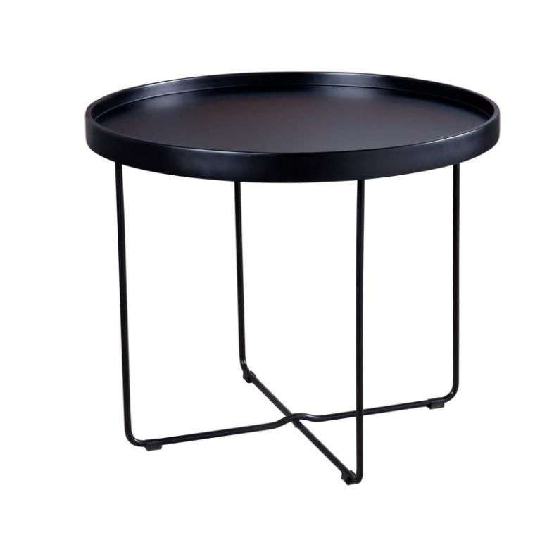 Mesa auxiliar Dave negro 60 cm