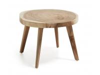 Mesa auxiliar madera munggur 80cm