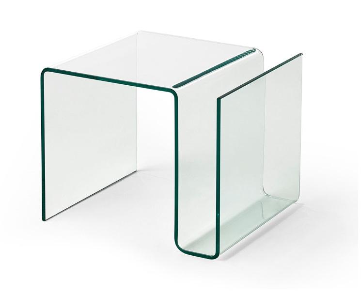 Mesa auxiliar revistero cristal CT-224