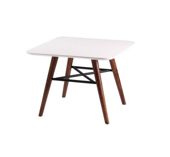 Mesa de centro Andy madera nogal blanco 60 cm