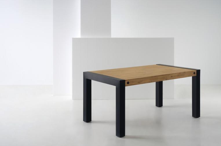 Mesa de comedor Boston madera de acacia 160x76 cm