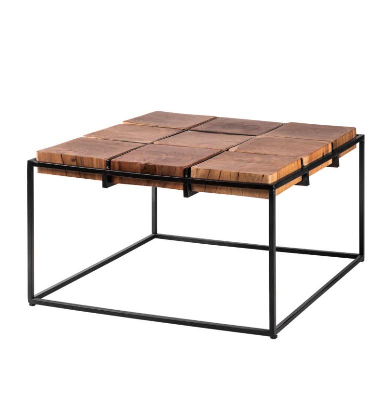 Mesa de centro Fakid madera de acacia 62 cm